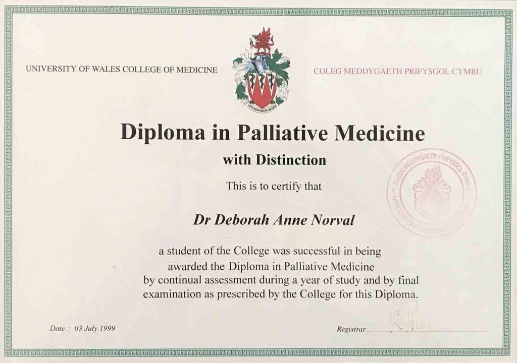 Certificate Palliative Medicine