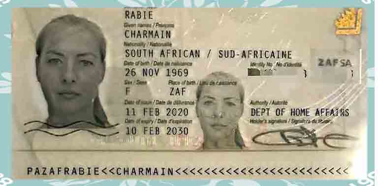 Charmaine's Driving Licence Photograph Taken In 2020
