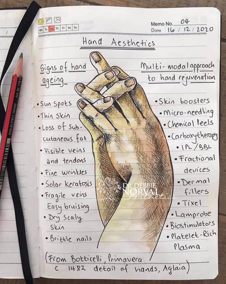 Hand drawn by Debbie