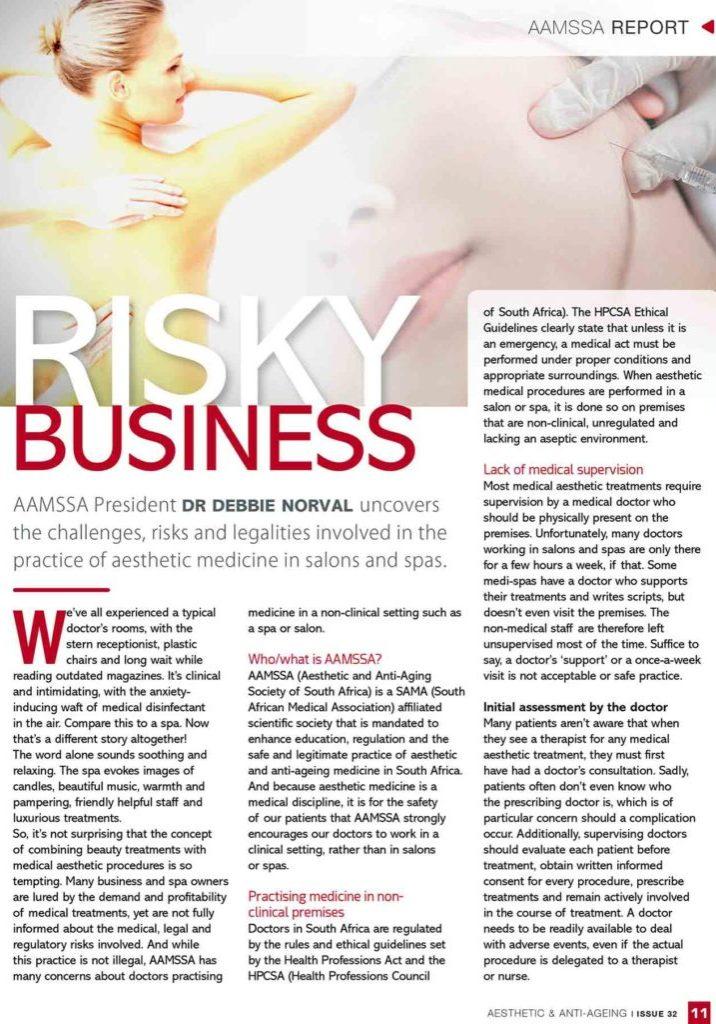 Risky Business Business Colour Page 1