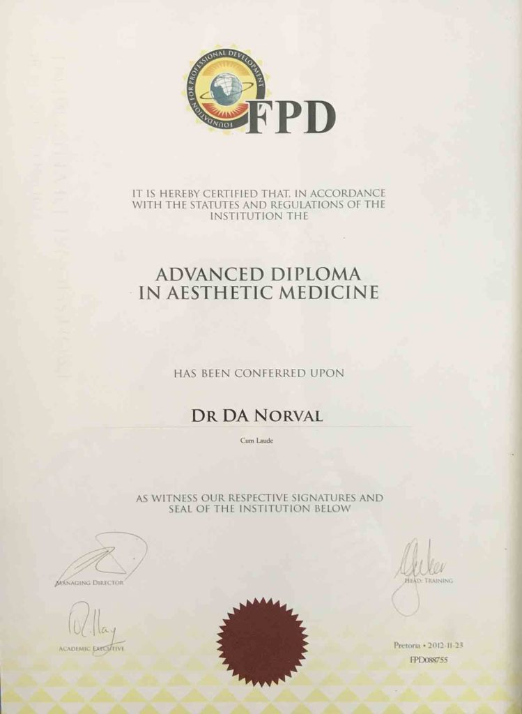 Certificate FPD