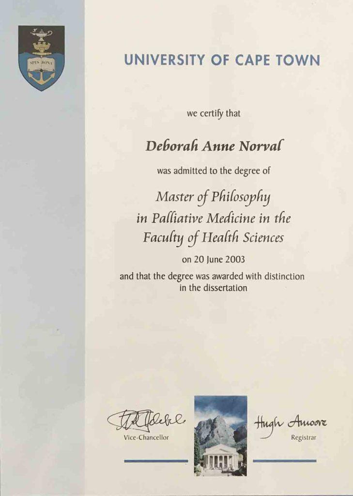 Certificate Cape Town